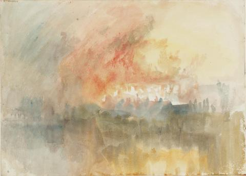 Fire at the Grand Storehouse of the Tower of London 1841 Joseph Mallord William Turner 1775-1851 Accepted by the nation as part of the Turner Bequest 1856 http://www.tate.org.uk/art/work/D27849