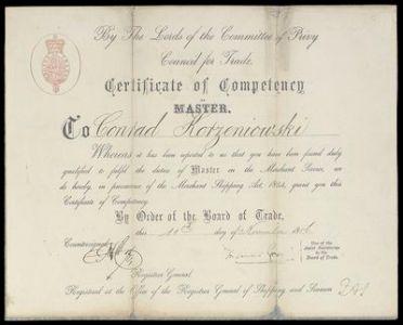Joseph Conrad Master Certificate