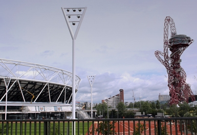 The Olympic statdium and the ArcelorMittal Orbit