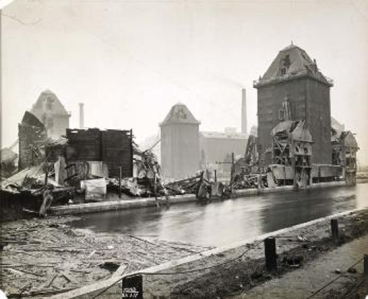 The Millennium Mills following the explosion. Source: Wikipedia