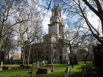 St Anne's Limehouse by Hawksmoor. Photograph by Steve Cadman, sourced from Wikipedia.