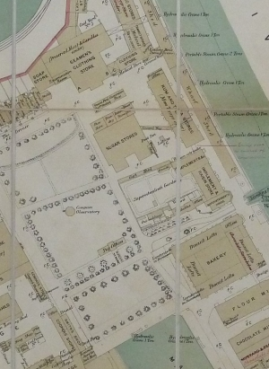 1888 plan of the Victualling Yard. Copyright National Archives.