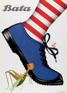 Donald Brun poster for Bata. Source: Alliance Graphique Internationale