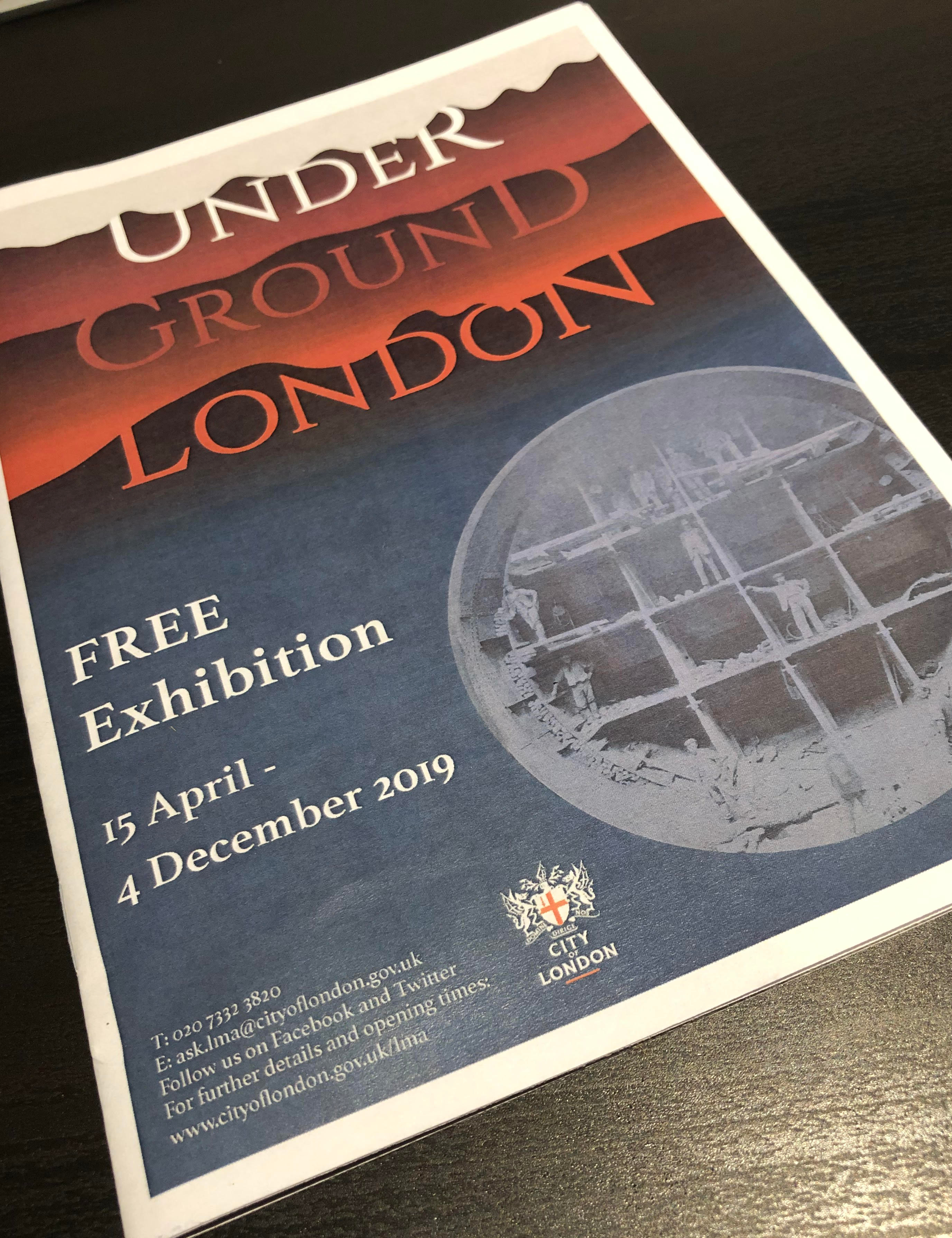 Underground London brochure