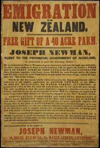 Advertisement for Emigration